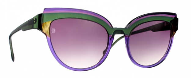 Caroline Abram BENEDICTE - TANZANITE / DARK GREEN ACETATE 690 -...