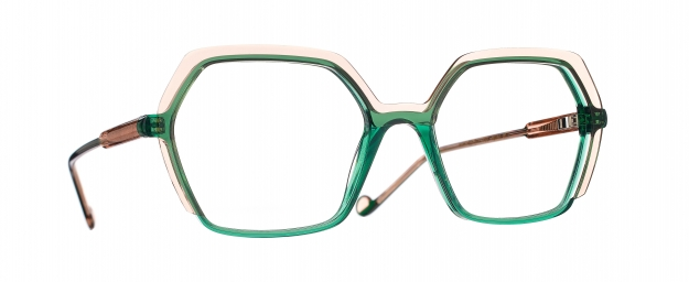 Caroline Abram MINI EDITH - PEACH / GREEN ACETATE 732 - MINI EDITH